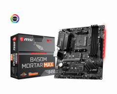MSI B450M MORTAR MAX, DDR4, SATA3, USB3.2Gen2, DP, AM4 mATX