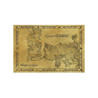 Pyramid GAME OF THRONES - ANTIQUE MAP MAXI plakat