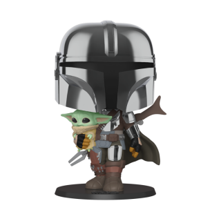 "FUNKO POP STAR WARS: MANDALORIAN - 10"" MANDALORIAN W/ CHILD"