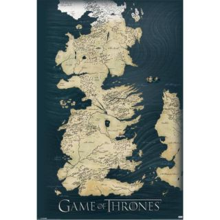 Pyramid GAME OF THRONES - MAP MAXI plakat